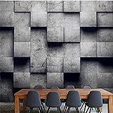 H&M Tapeten-nordischer Art-Persönlichkeits-graues quadratisches Muster 3D kundengebundenes Wandbild-Dekoration-Café/Esszimmer/Wohnzimmer/Fernsehwand/Schlafzimmer/Sofa-Hintergrund