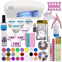Set profesional de artículos para la decoración de uñas; polvo de acrílico, 24 colores
