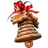 Tescoma Delícia Set stampini per biscotti a forma di campana di Natale