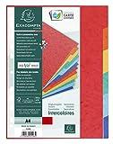 Exacompta 1406E - Juego de 6 separadores de cartulina lustrada DIN A4, colores vivos