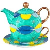 Aricola Tea for one–Té Tina con 400ml. Mano pintada Servicio de té para una persona.