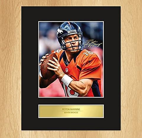 Peyton Manning Denver Broncos, gerahmte Fotografie, signiert