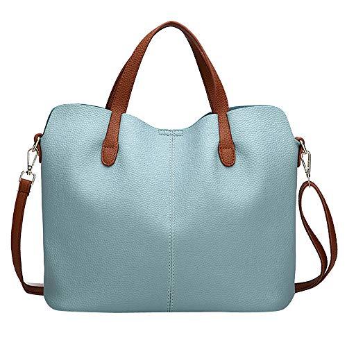 c214cbc279 Sonnena Fashion Womens Leather Pure Color Crossbody Bag Zipper Bag Vintage  Shoulder Bag Hand