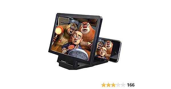 /Écran De Projecteur De Loupe De T/él/éphone Portable 3D HD Pour Films Vid/éos Loupe D/écran De T/él/éphone Portable Support Dagrandisseur Portable Durable Amplificateur De T/él/éphone 3D HD 12 ``