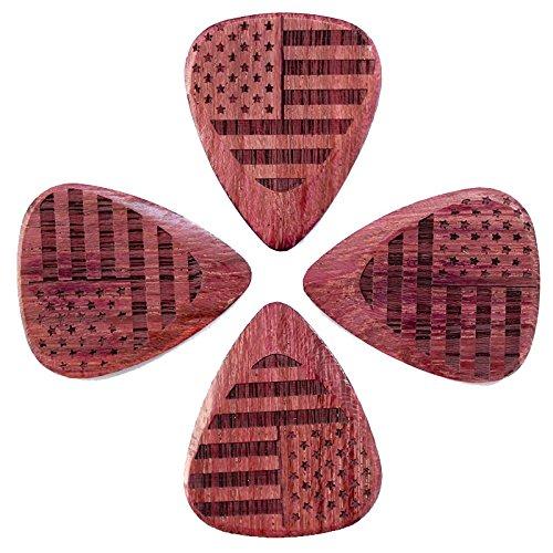 bandera-tones-fla-sas-puh-4-stars-and-stripes-corazon-purpura-pua-de-guitarra-4-unidades