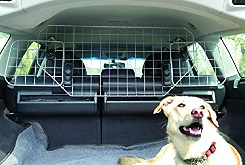 XtremeAuto® Durable Universal Deluxe Heavy Duty Dog Guard Pet Car Barrier Cage Mesh Head Rest Pet Dog Guard Complete with XtremeAuto
