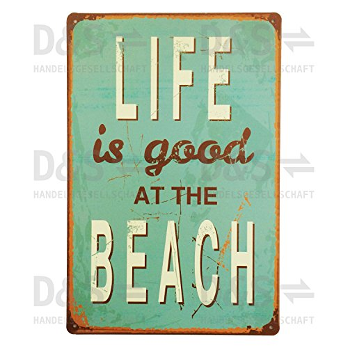 nostalgie-blechschild-life-is-good-at-the-beach-800163