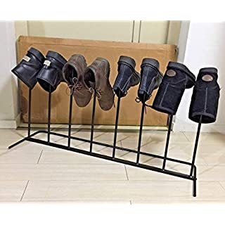 ANZ Boot Iron Storage Rack Stand Walking For Wellies Cast Iron Boot Rack Holder