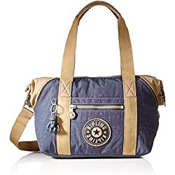 Kipling Art Mini, Bolso de Mano para Mujer, Gris (Night Grey Bl), 28x23.5x18.5 centimeters (B x H x T)