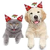 Tie langxian Haustier Katze Weihnachten Kopfschmuck Haustier Kopfbedeckung Kostüm für Katzen Haarzubehör (Weihnachtsmann,S)