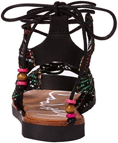 Coolway Mojito, Sandales avec lanière de cheville femme Noir (Black)