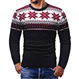 FRAUIT Weihnachtspullover Herren Pullover Sweater Pulli Sweatshirt Ugly Weihnachtspulli mit Motiven für WeihnachtspartyWeihnachten Männer Herbst Winter Druck Christmas Outwear Bluse