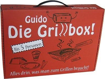 Guido Die Grillbox Einweggrill - 31-teilig für 5 Personen