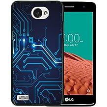 Funda LG X150 Bello 2, WoowCase [ LG X150 Bello 2 ] Funda Silicona Gel Flexible Circuito, Carcasa Case TPU Silicona - Negro