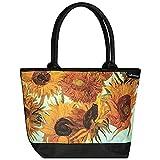 VON LILIENFELD Tasche Damen Shopper Bedruckt Motiv Kunst Vincent van Gogh Sonnenblumen