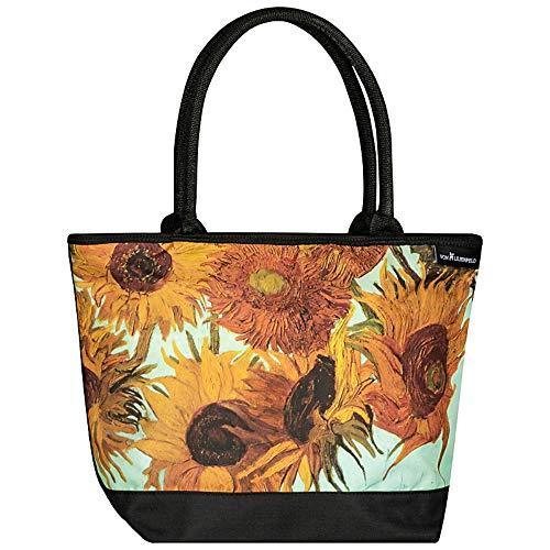 (VON LILIENFELD Tasche Shopper Damen Kunst Motiv Vincent Gogh Sonnenblumen)