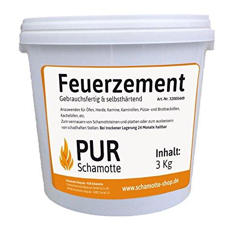 PUR Schamotte Feuerzement (hydraulisch) - 3kg Dose