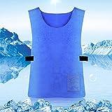 Bulary Evaporative Kühlweste Eiskühlung Schutzkleidung Unisex Erwachsene Sommer Sport Weste Sonnenstich Prävention Weste Hohe Temperatur Schutzkleidung
