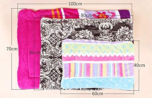 Schönes Design Haustier Hund Katze Fleece Couture Decke Matte (zufällige Farbe, S) Gemütlich