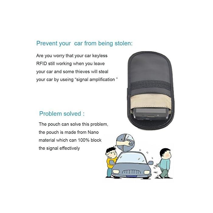 Samxu Car Key Signal Blocker Case, 2Pack Key Fob Protector Device