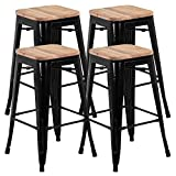 Best Tabourets de bar - Yaheetech 4 Tabouret de Bar Design Industriel Tabouret Review