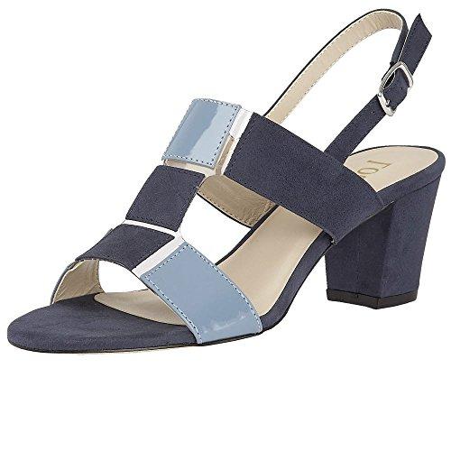 Lotus Perifollo Blau Microfaser & Glänzend Open-Toe Schuhe Blau