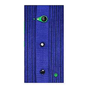 Royal Blue Sweat Print Back Case Cover for Lumia 730