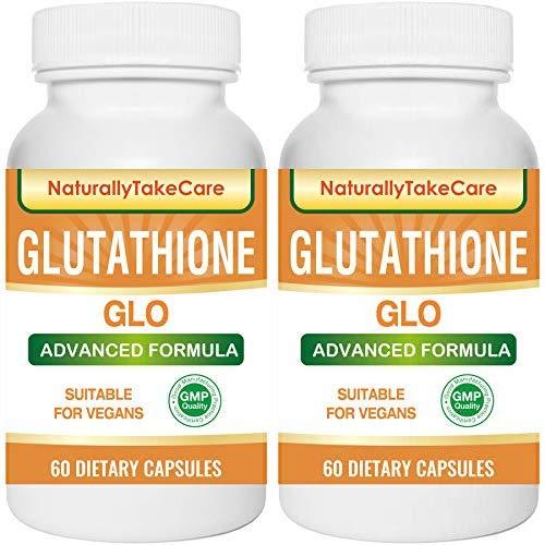 Glutathione Skin whitening supplement Antioxidant Anti-aging Reduce dark spots Healthy detoxification - Maximum strength 500 MG 2 package