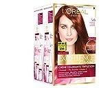 L'Oréal Paris - Excellence Crème - Coloration Permanente Triple Soin 100% Couverture Cheveux Blancs - Nuance  5,60 Châtain Auburn - Lot de 2