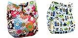 Babymoon ( SET of 2 ) Cloth Diaper Designer Premium Reusable, Adjustable Size, Waterproof, Washable, Pocket Cloth Diaper Nappie