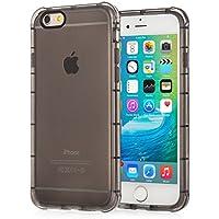 Centopi iPhone 6 / 6S TPU Gel Case [Air Bumper] Transparent Cover - Black