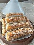 Patisserie ✪ 5 deliziosi sigari alle mandorle e noci freschezza garantita = preparati dopo l'ordine ✪ Torta Baklawa Profumata alla Cannella e Fiore d'Arancio. + Una sorpresa da degustare