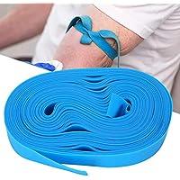 Torniquete desechable, 1 rollo de elastidad Diseños planos Torniquete hemostático con 50 tiras, adecuado para situaciones de emergencia(#1)