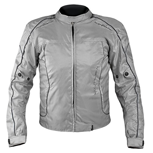 A-Pro-Giacca-Lady-Moto-Donna-Tessuto-Protezioni-CE-Sfoderabile-Scooter-Grigio-XL