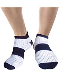JHosiery Hombre ventilados calcetines deportivos con costuras mínimas