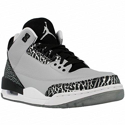 Jordan Air Jordan 3 Retro mixte adulte, cuir lisse, sneaker high