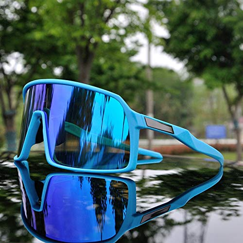 WLCLJJ Outdoor-Sport Männer Radfahren Brille 3 Objektiv Polarisierte Radbrille Mountainbike Radfahren Sonnenbrille UV400 Radfahren Brillen (Color : SUB5)