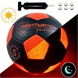 Original Night Match leuchtfuss con pelota & Bomba para pilas – Black Edition – Pelota de fútbol – ,...