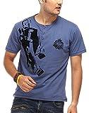 Chlorophile Men's Henley Cotton T-Shirt ...