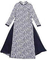 Robe en Soie Long Long Art Temperament Impression Modérée Cheongsam Robe