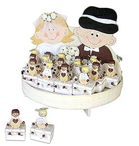 Disok- Expositor Just Married + 30 Cajas Novios, Multicolor (3061)