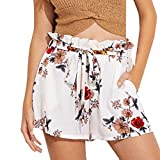 Shorts Damen Sommer Locker Luckycat Spitzen Shorts für Frauen Shorts Hose Sommerhosen Pants Hosen (A-007 Weiß, Small)