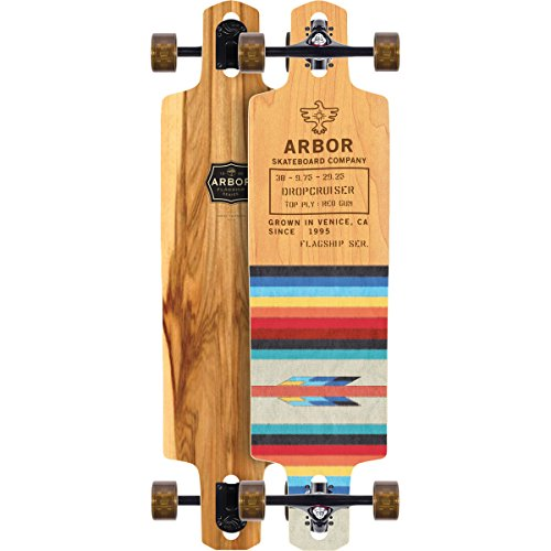 Arbor dropcruiser Flagship Komplett Skateboard, Sortiert, 96,5cm L x 24,8cm W x 74,3cm WB -