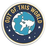 2 x 10cm Earth Vinyl Stickers - Planet Space World Globe Sticker Laptop #17565