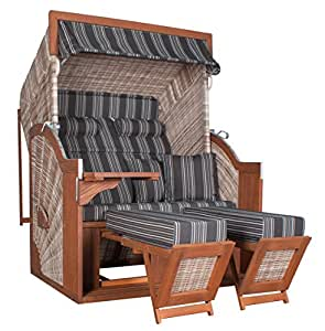 devries comfort plus xl strandkorb kampen 2 5 sitzer pe mocca 423. Black Bedroom Furniture Sets. Home Design Ideas