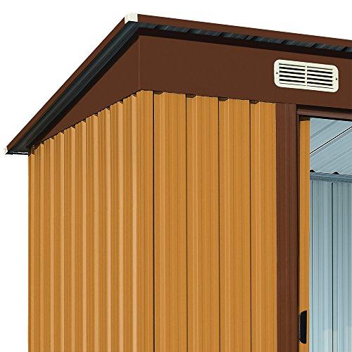 Deuba casa per attrezzi da giardino in metallo con porte zincate a caldo negozio casette da - Attrezzi per imbiancare casa ...