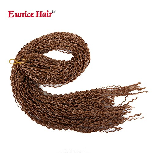 3pack/lot eunice hair synthetic crochet trecce twist wave box braid 28inch curly faux locs soft hair deep faux locs twist trecce goddess locs crochet brai ding hair trecce mambo hair extension 28roots/pack