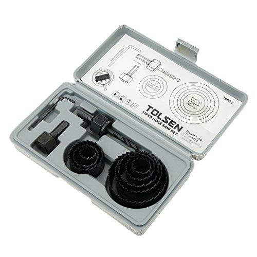 Tolsen PN18081610010174326 Coronas redondas para serrar agujeros de madera, Set de 8...