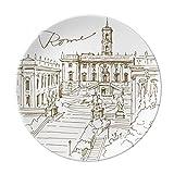 Fontana Di Trevi Rom Fontana Landmark Dekorative Porzellan Dessertteller 20,3cm Abendessen Home Geschenk