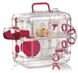 Zolux Duo Rodylounge Cerise Cage pour Petit Animal